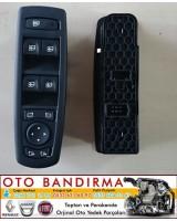 Fluence Cam Açma Kapama Düğmesi Kumanda Paneli Megane III Cam Açma Kapama Düğmesi Kumanda Paneli  Siyah Katlanır Ayna 25400000R
